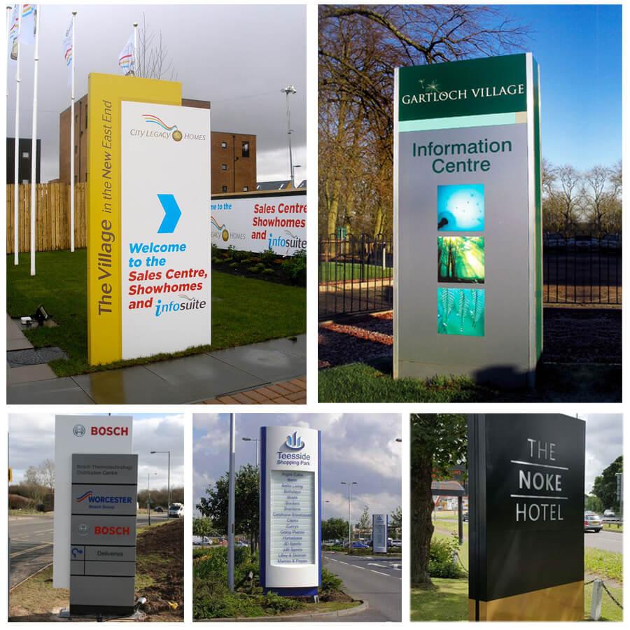 Esempi di totem pubblicitari a Brescia
